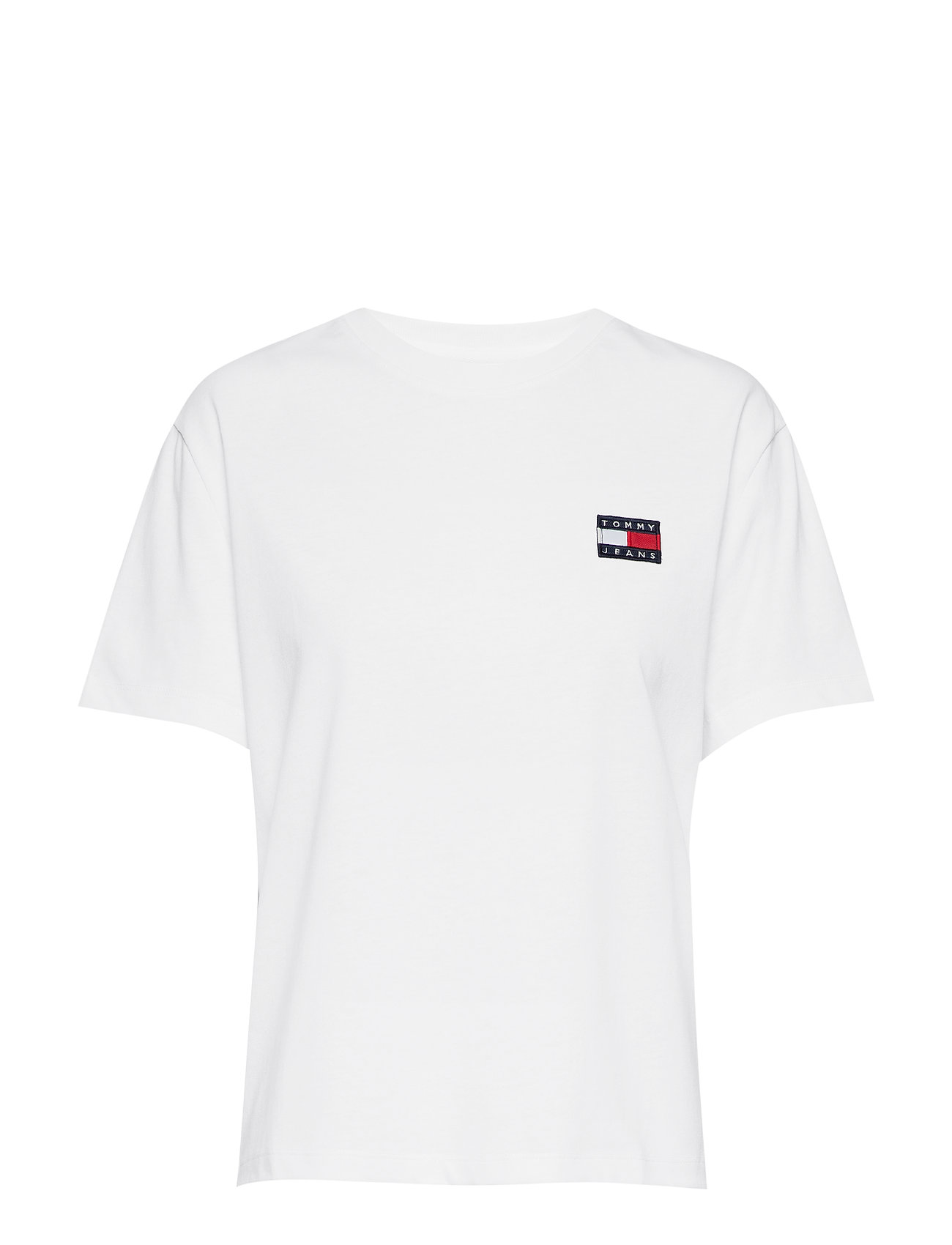 Tommy Jeans TJW TOMMY BADGE TEE - CLASSIC WHITE