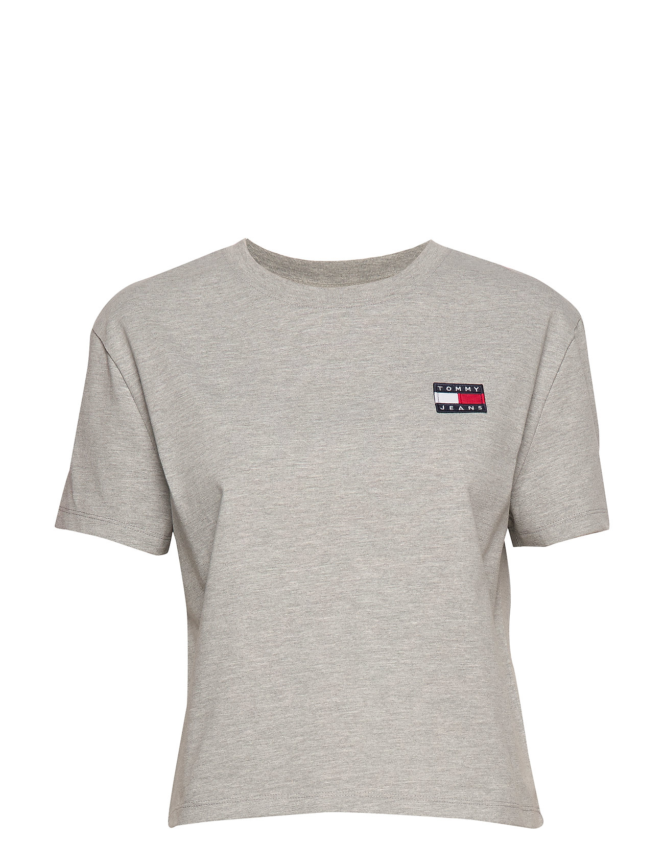 Tommy Jeans TJW TOMMY BADGE TEE - LT GREY HTR