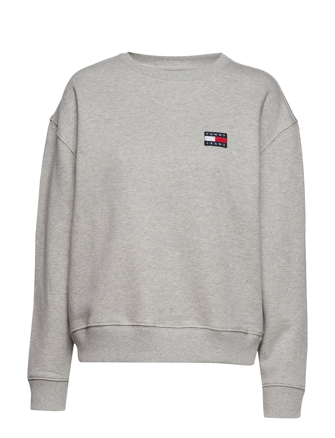 Tommy Jeans TJW TOMMY BADGE CREW - LT GREY HTR