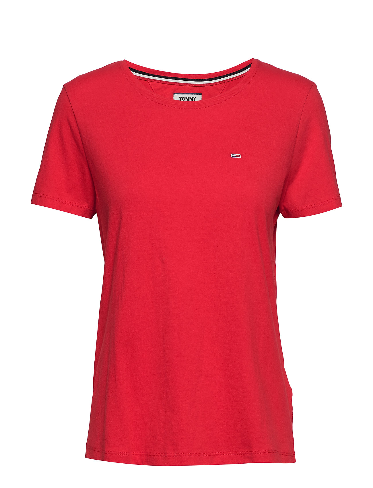 Tommy Jeans TJW SOFT JERSEY TEE - FLAME SCARLET