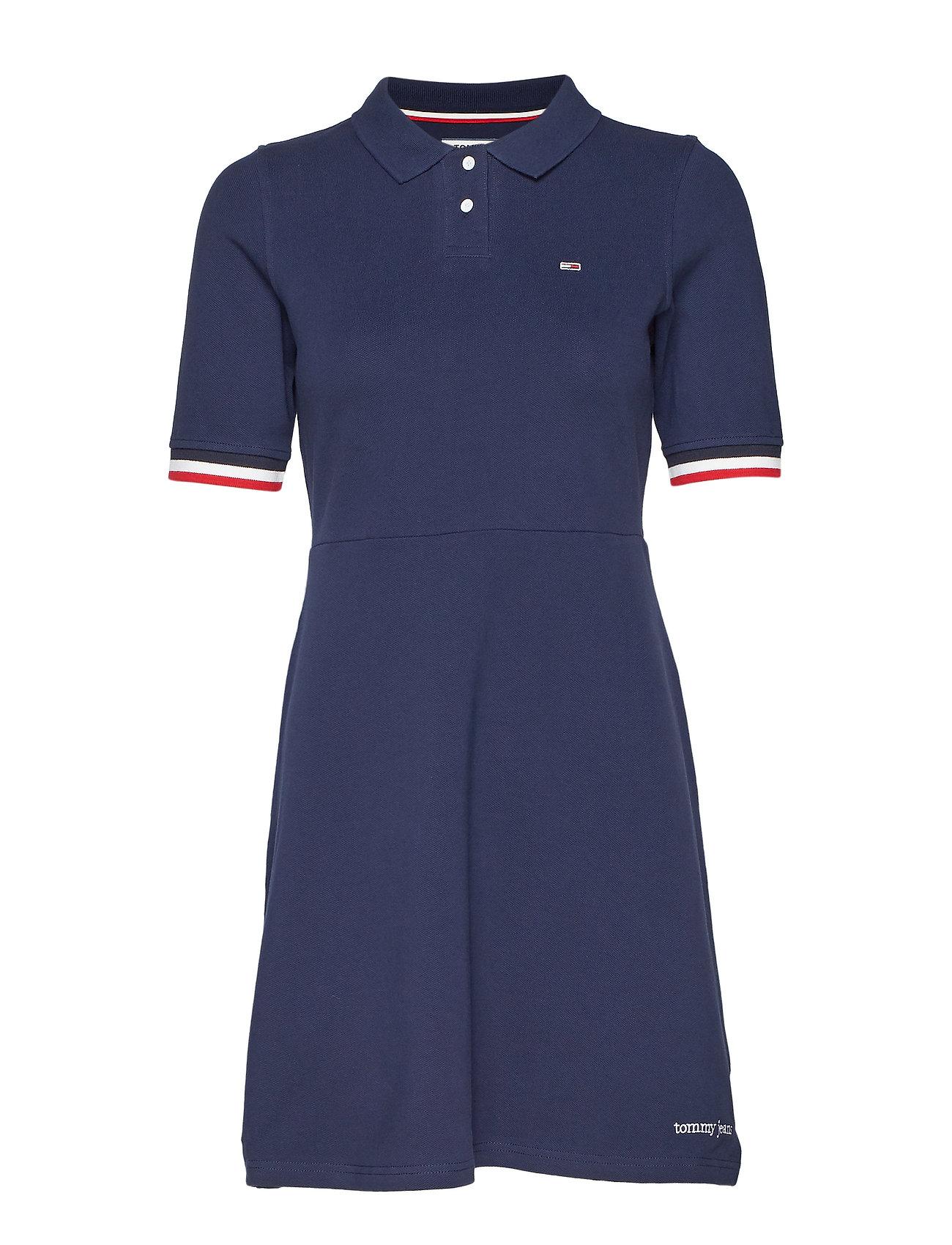IrisTommy Jeans Tjw Polo Dressblack Flare QWCxrBoed