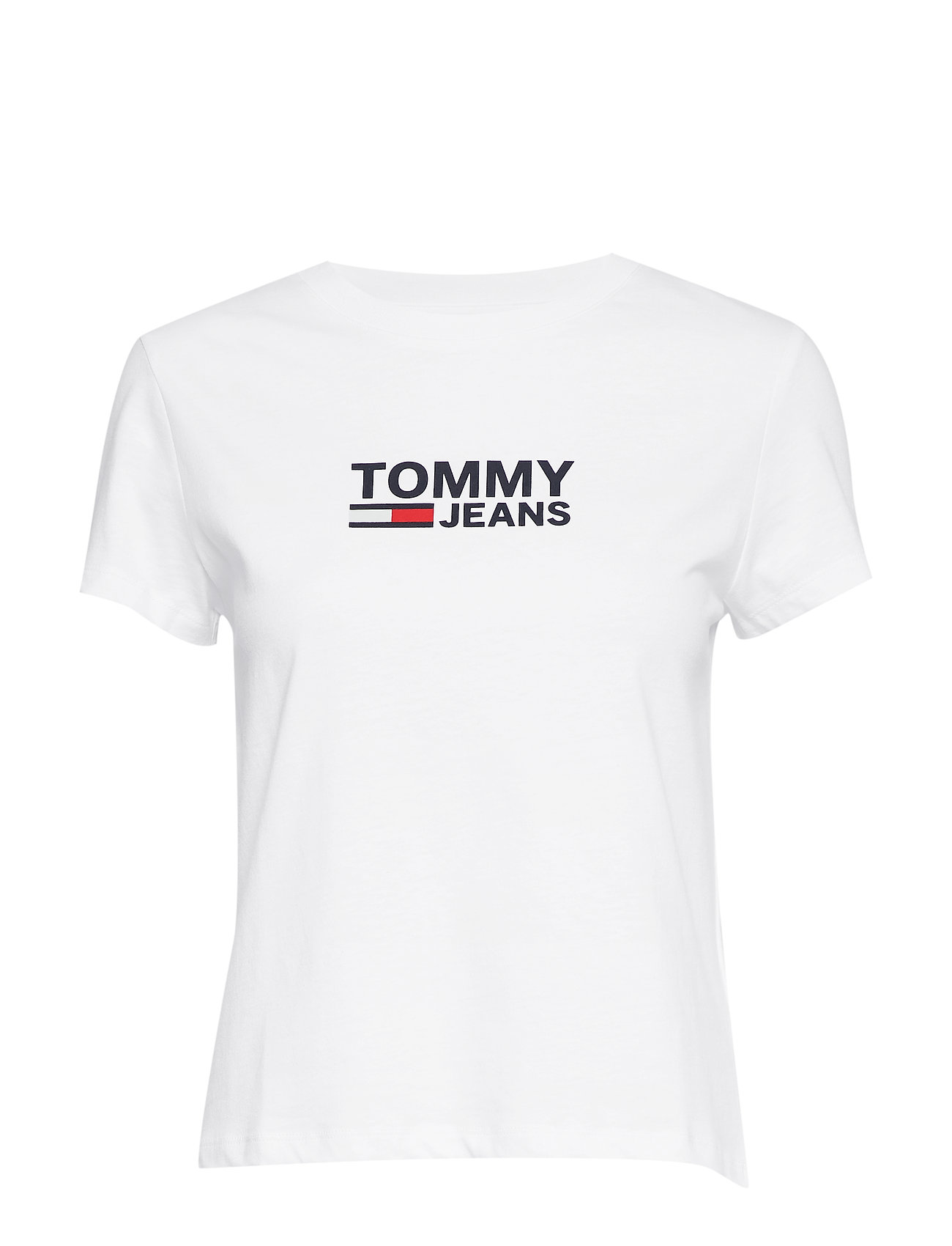 Tommy Jeans TJW CORP LOGO TEE - CLASSIC WHITE