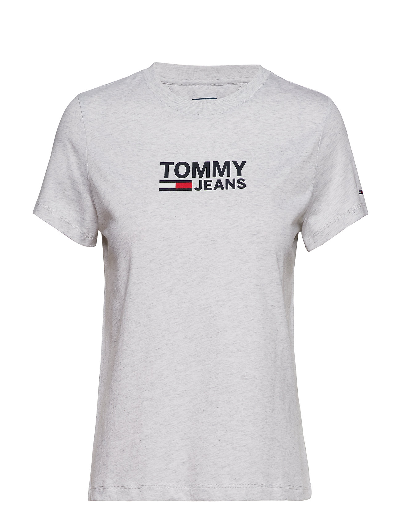 Tommy Jeans TJW CORP LOGO TEE - PALE GREY HEATHER