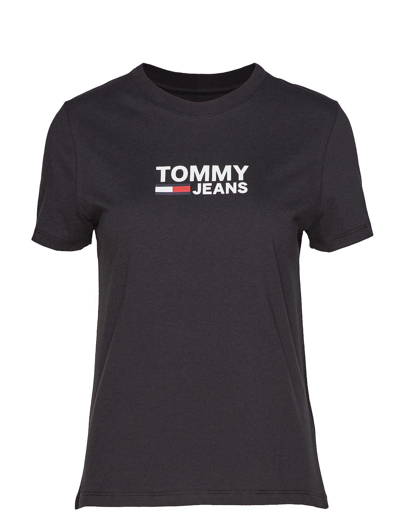 Tommy Jeans TJW CORP LOGO TEE - TOMMY BLACK