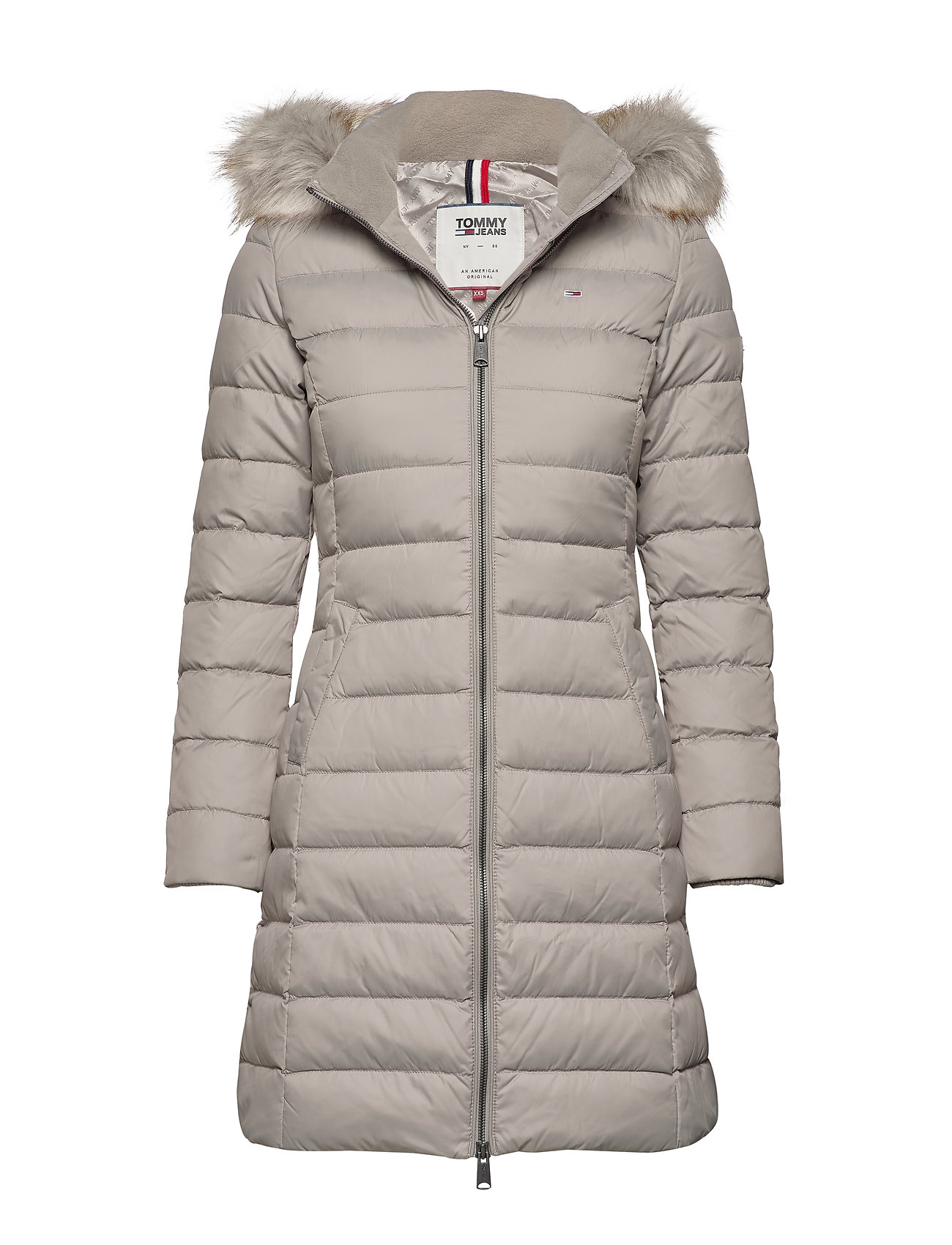 Tommy Jeans TJW ESSENTIAL HOODED - MOURNING DOVE