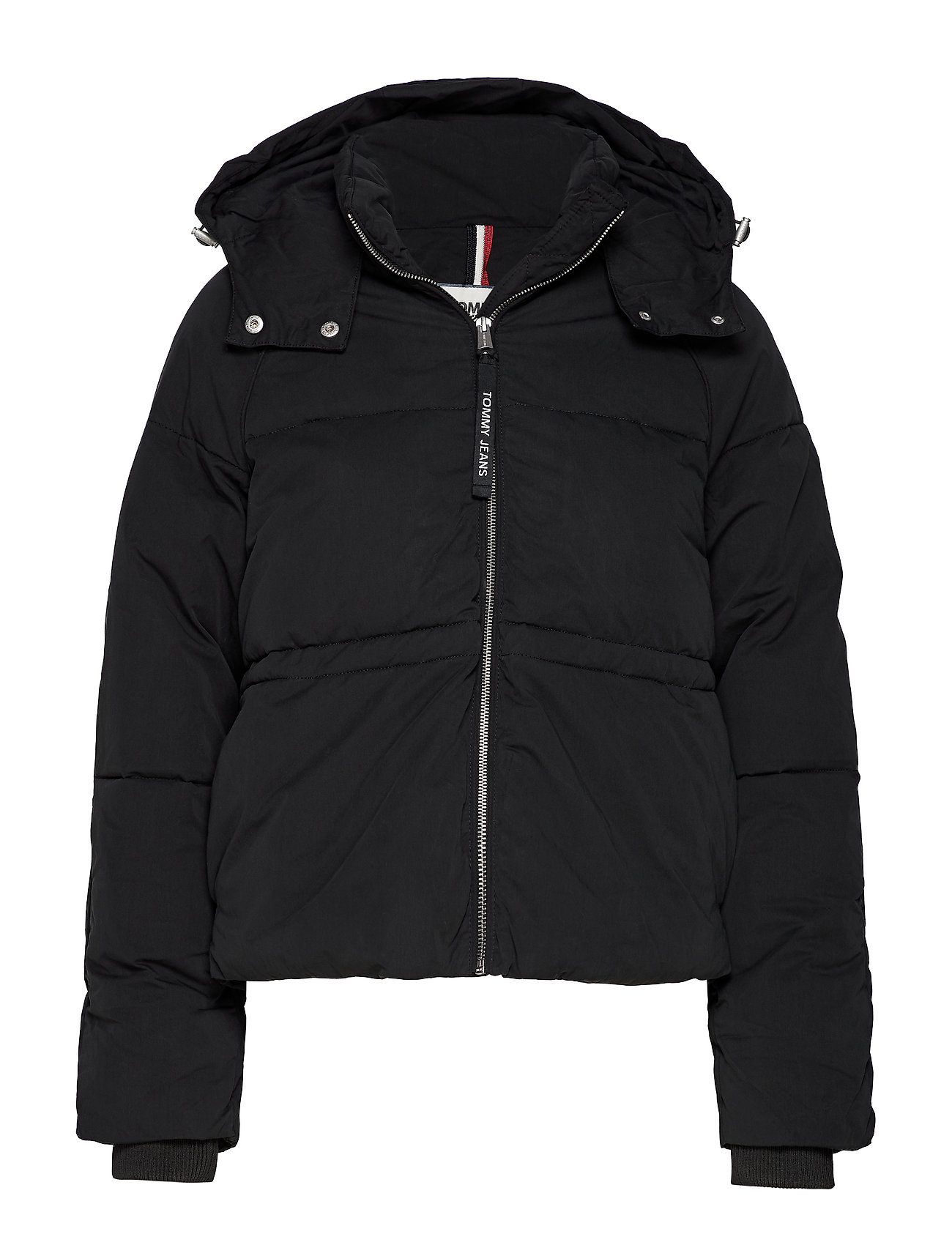 Image of Tjw Tommy Detail Puffa Jacket Foret Jakke Sort Tommy Jeans (3261450947)