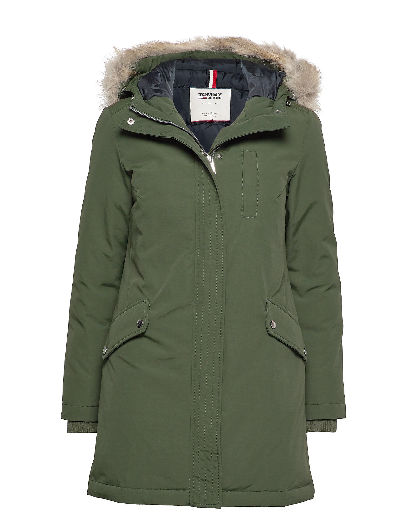 Tommy Jeans TJW TECHNICAL DOWN PARKA - KOMBU GREEN