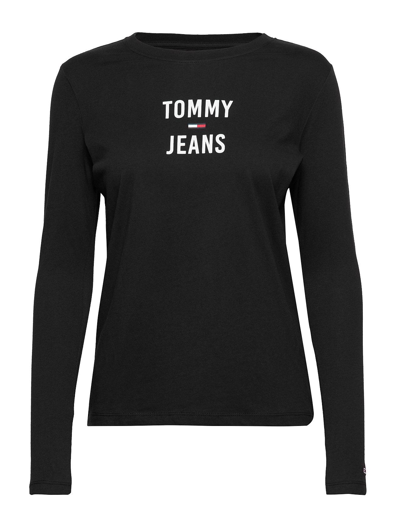 Tommy Jeans TJW SQUARE LOGO LONG - TOMMY BLACK