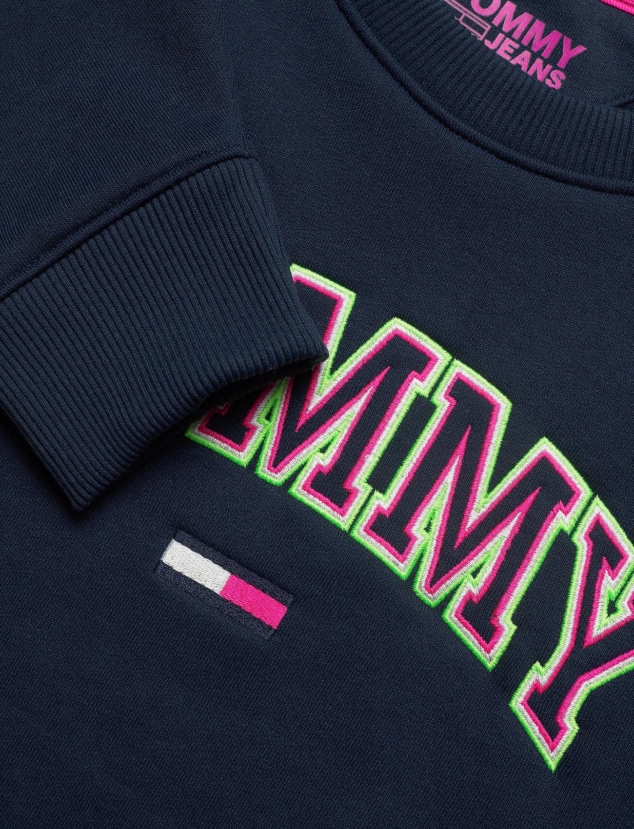 Tommy Jeans Tjw Neon Outline Crew - Sweatshirts Black Iris