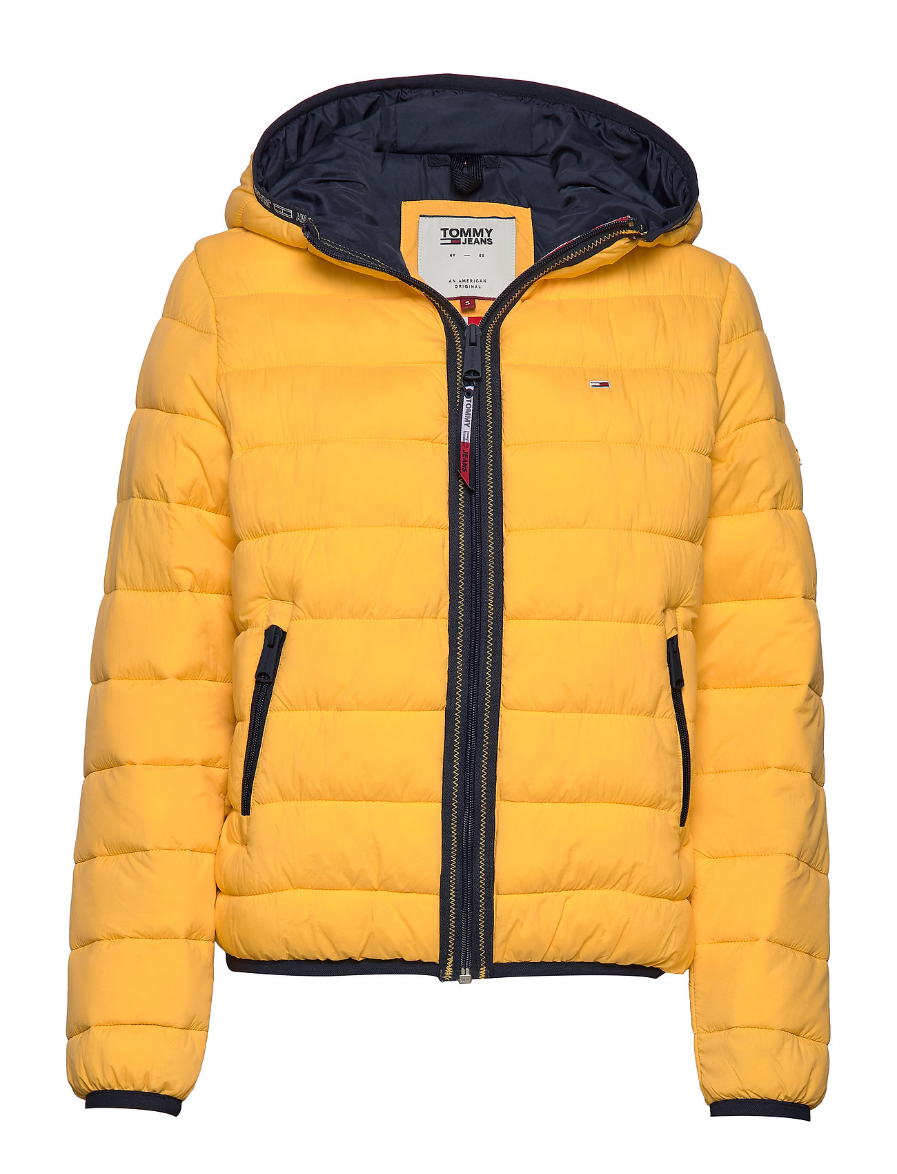 Tommy Jeans TJW QUILTED TAPE DETAIL JACKET - SPECTRA YELLOW