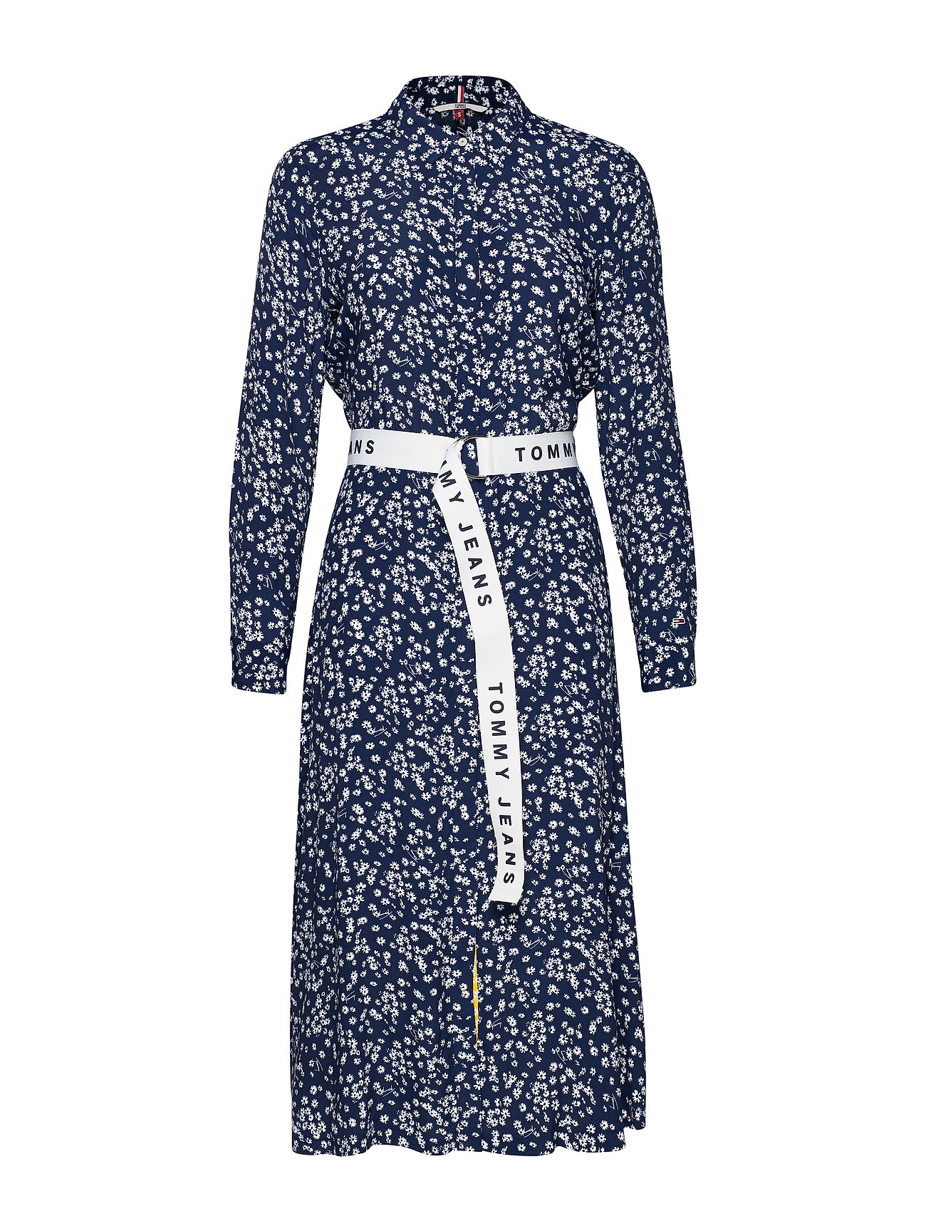 Tommy Jeans TJW PRINT MIX SHIRT DRESS - SCATTERED FLORAL / BLUE DEPTHS