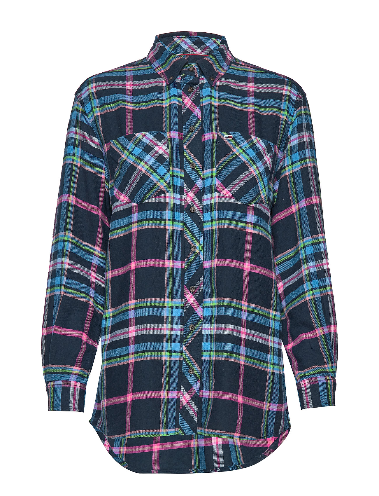 Tommy Jeans TJW MODERN CHECK SHIRT - MAZARINE BLUE / CHECK