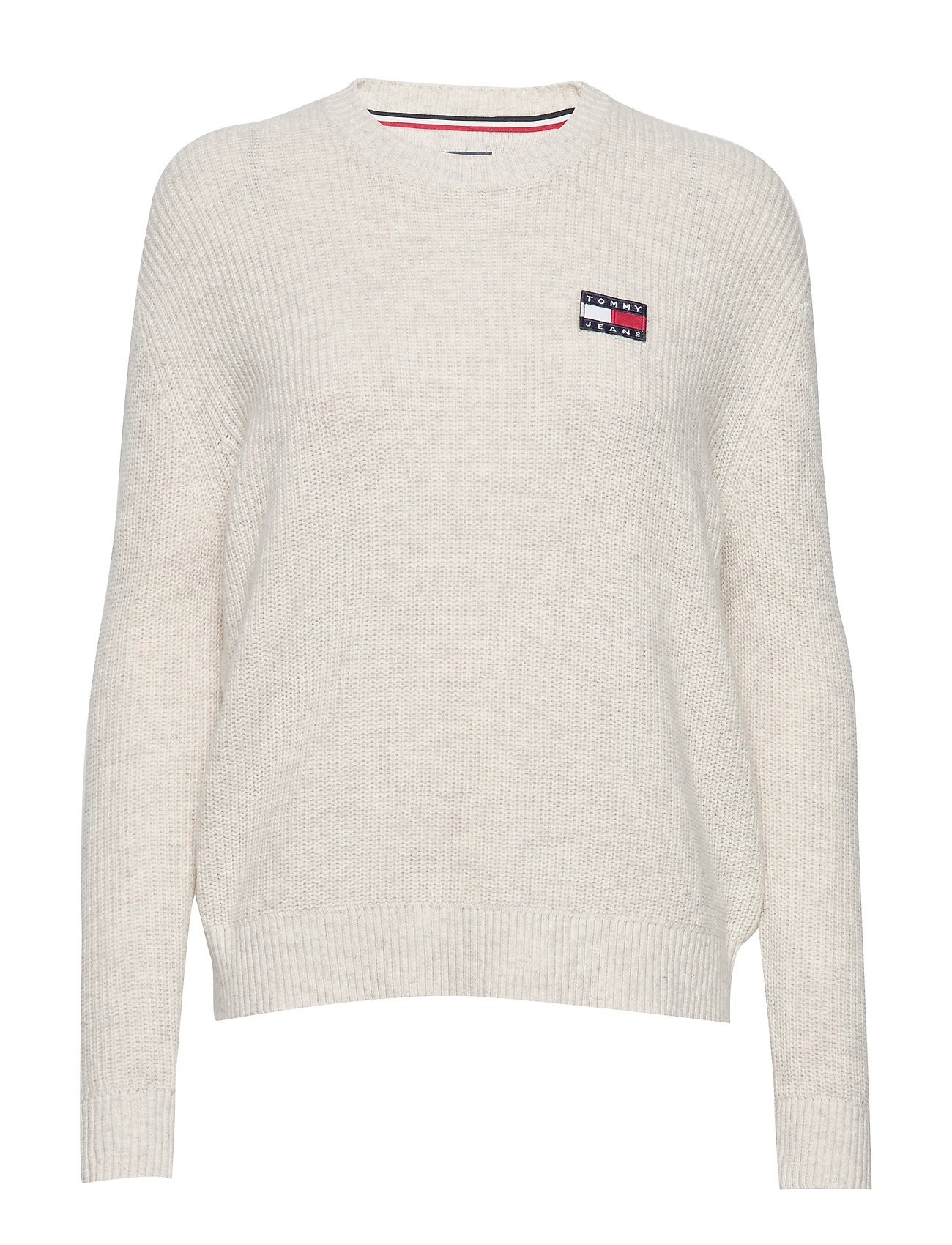 Image of Tjw Tommy Badge Sweater Strikket Trøje Creme Tommy Jeans (3285598881)