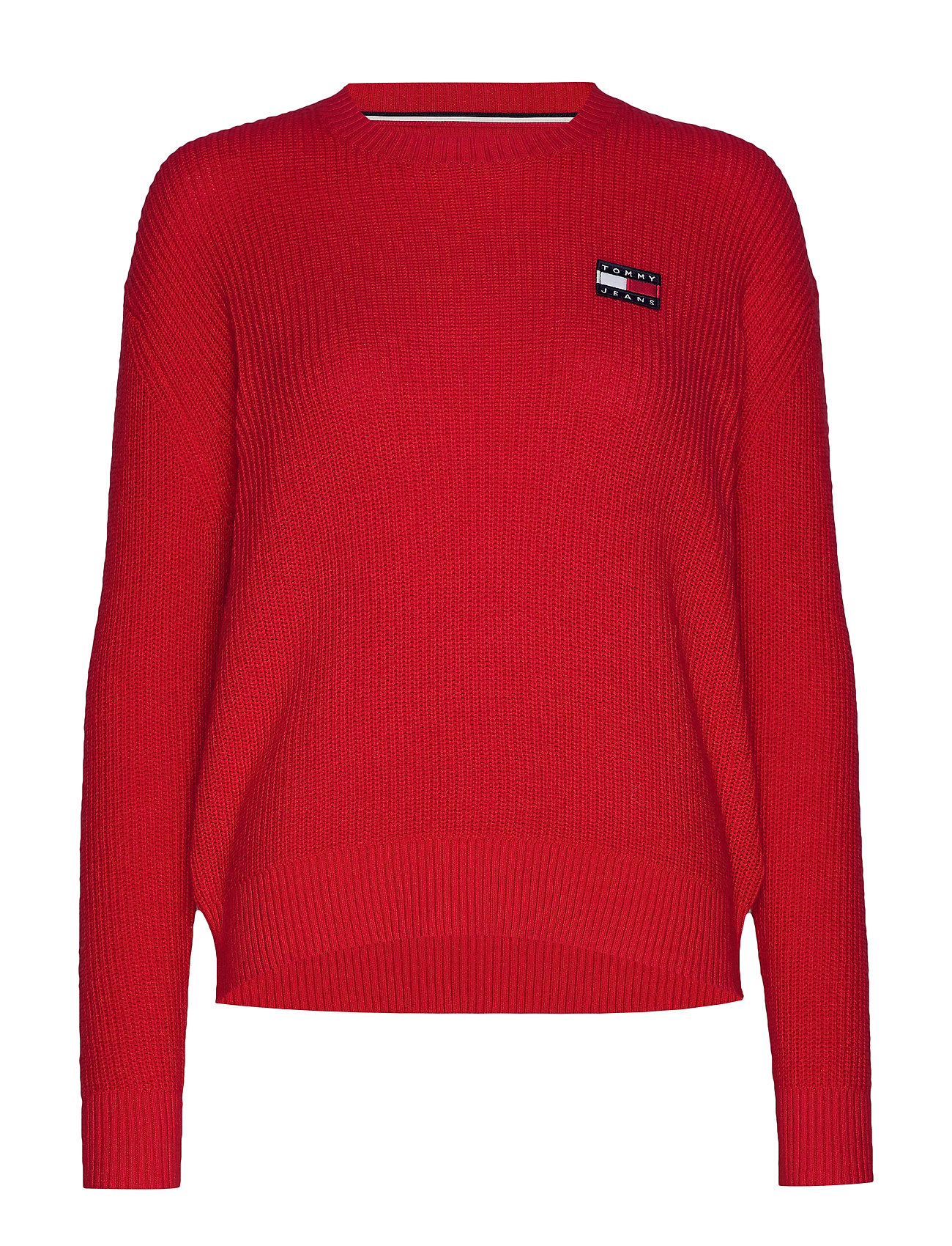 Tommy Jeans TJW TOMMY BADGE SWEATER - RACING RED