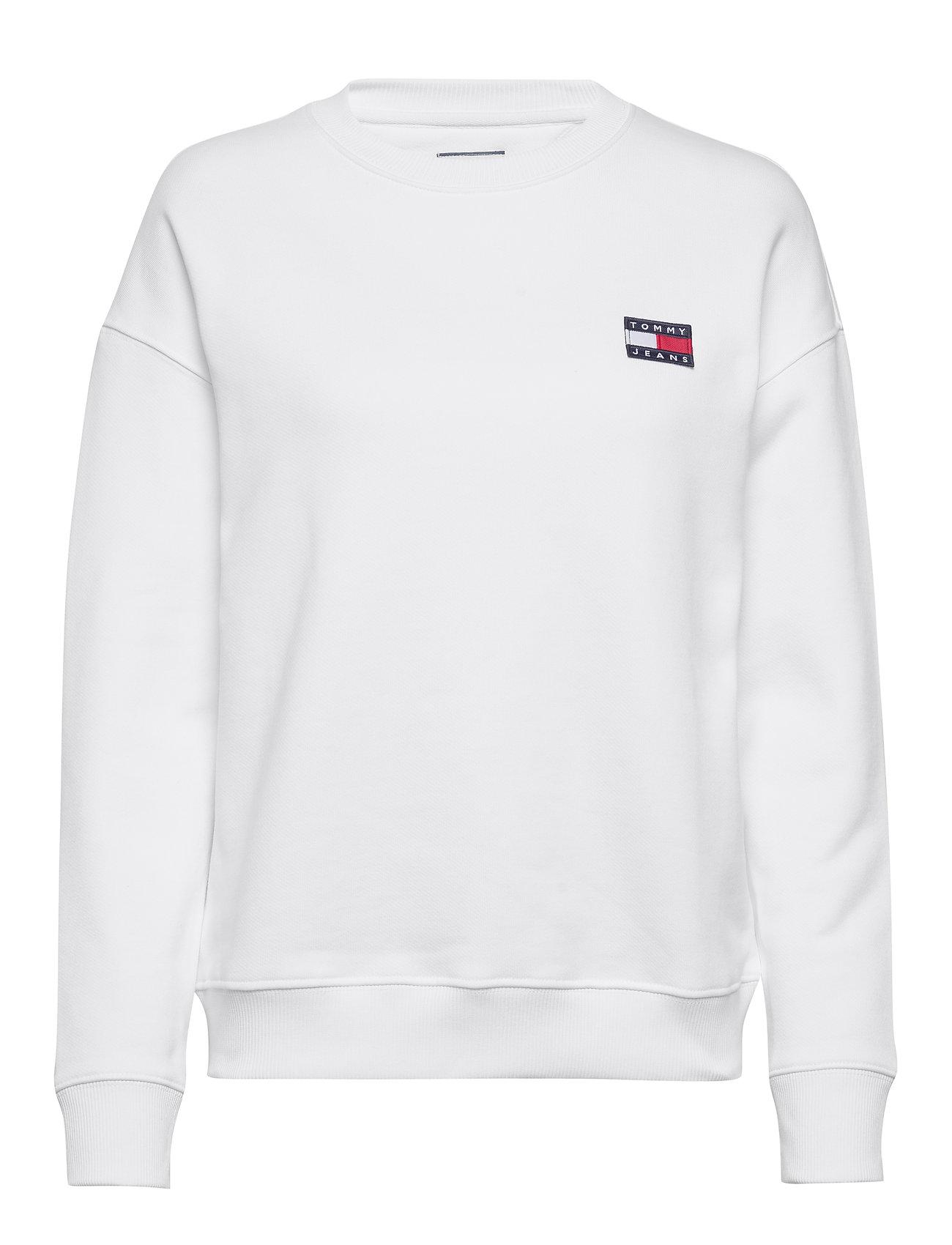 Image of Tjw Tommy Badge Crew Sweatshirt Trøje Hvid Tommy Jeans (3418111697)
