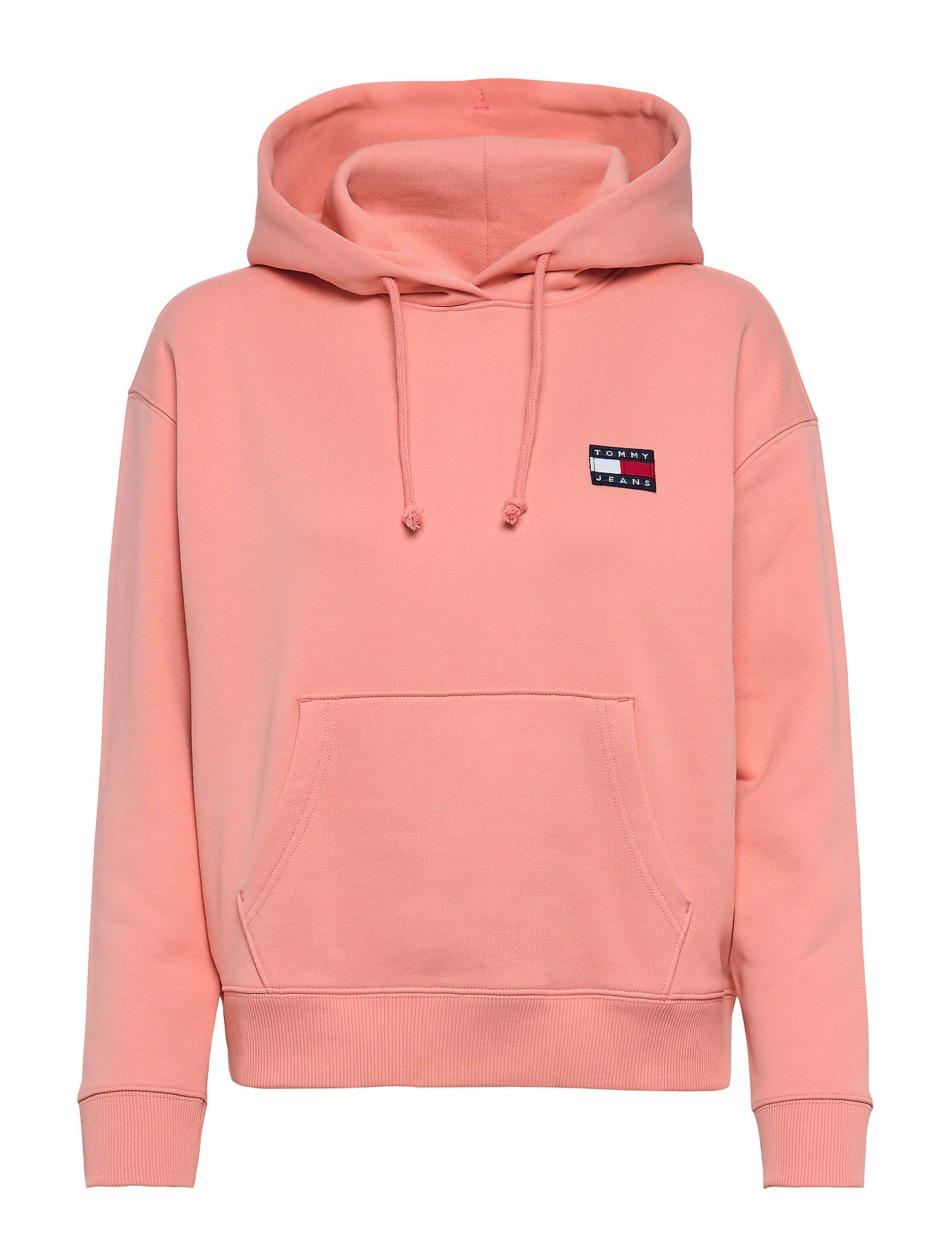 Tommy Jeans TJW TOMMY BADGE HOODIE - PINK ICING