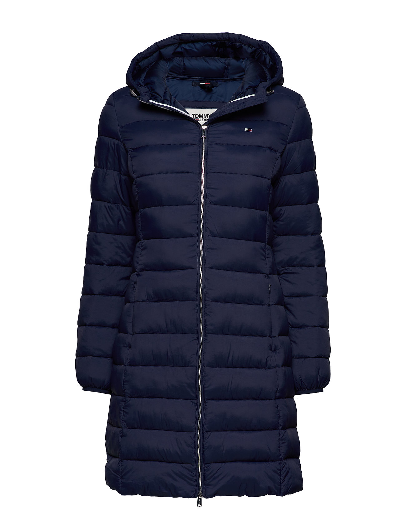 Tjw Basic Quilted Hooded Coat (Black Iris) (199 €) - Tommy ...