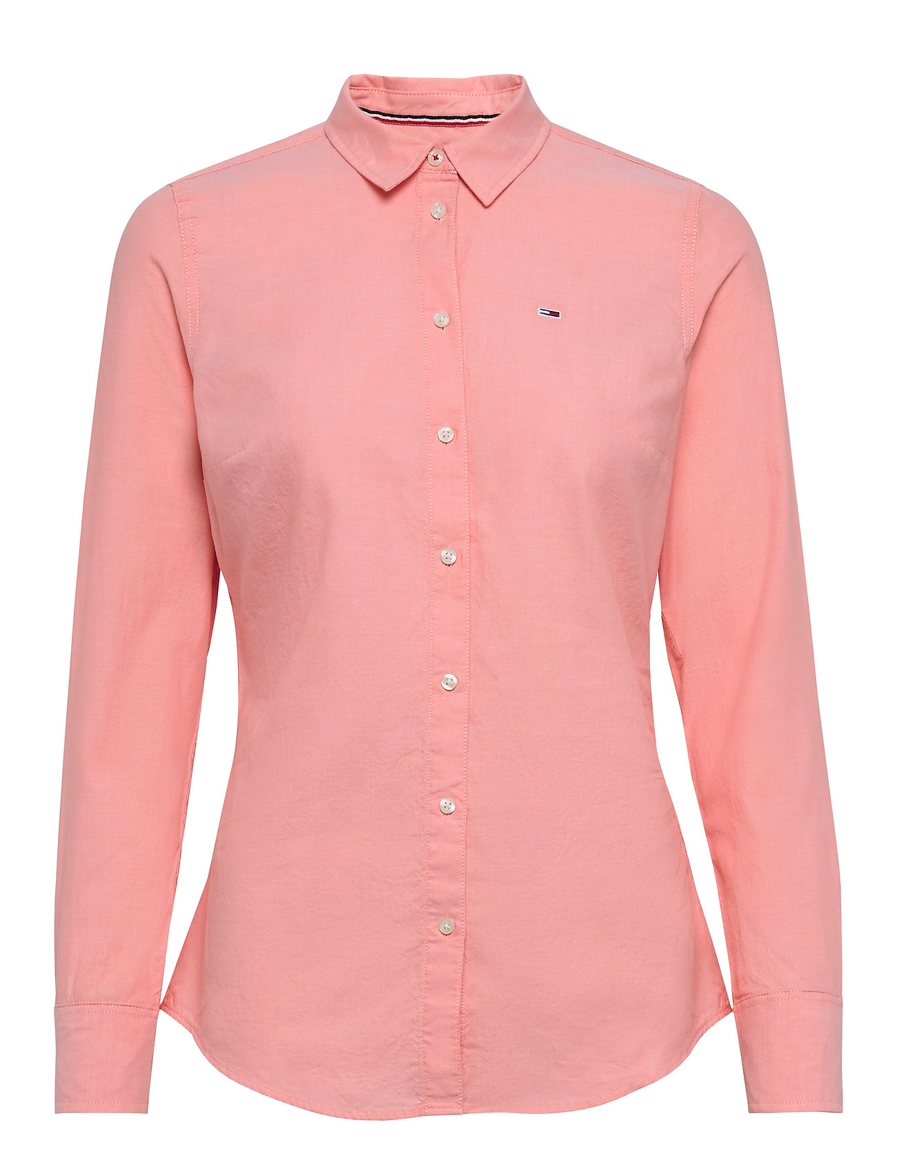 Tommy Jeans TJW SLIM FIT OXFORD SHIRT - PINK ICING