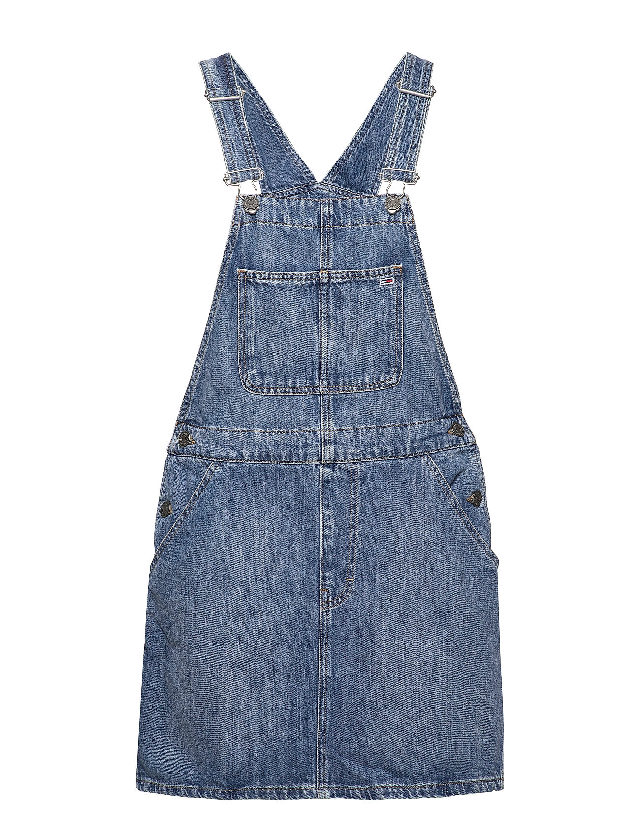 Tommy Jeans CLASSIC DUNGAREE DRESS NTSMR - 90S MID BLUE RIG