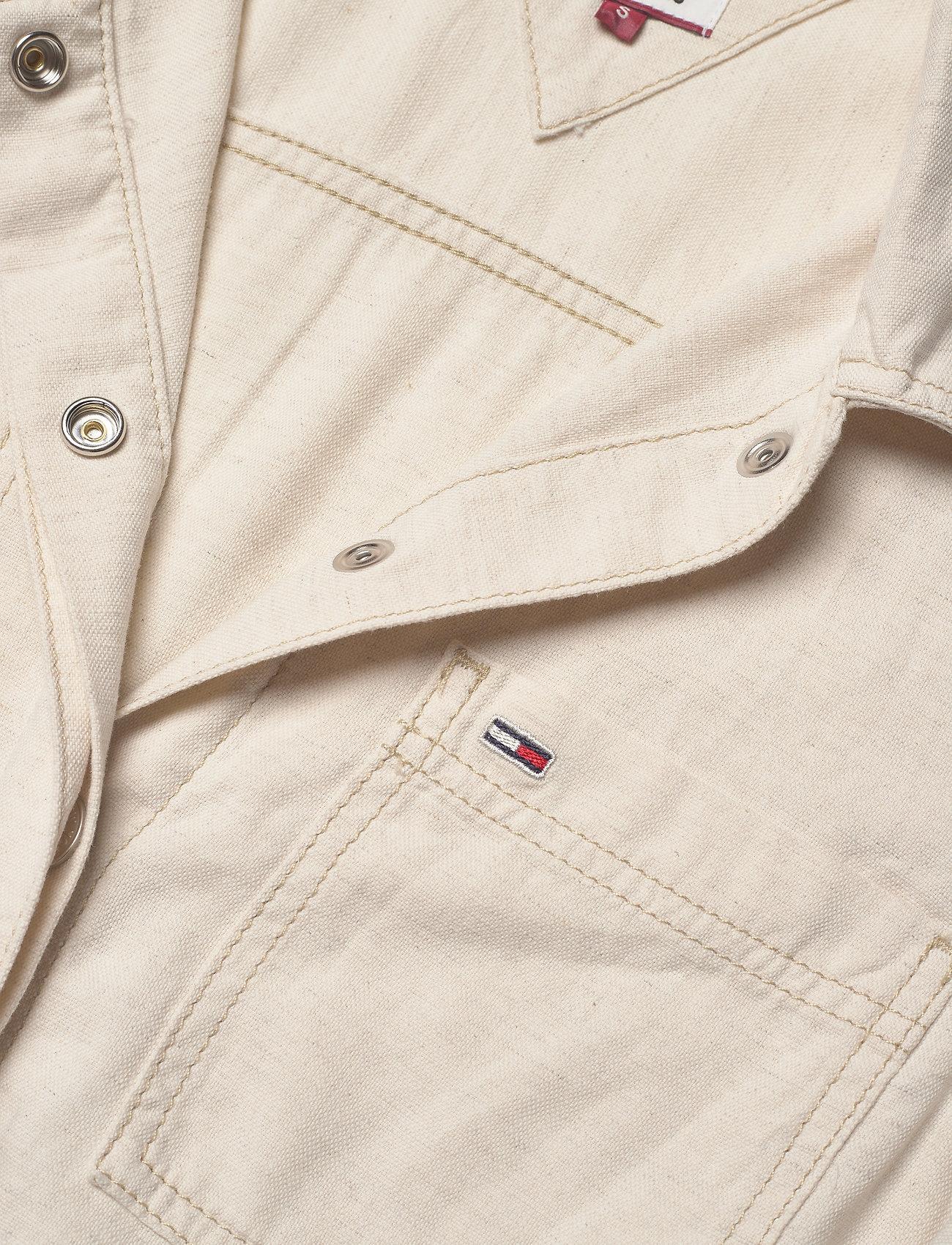 Tommy Jeans Short Jumpsuit - Jumpsuits Peyton White Cotton Linen