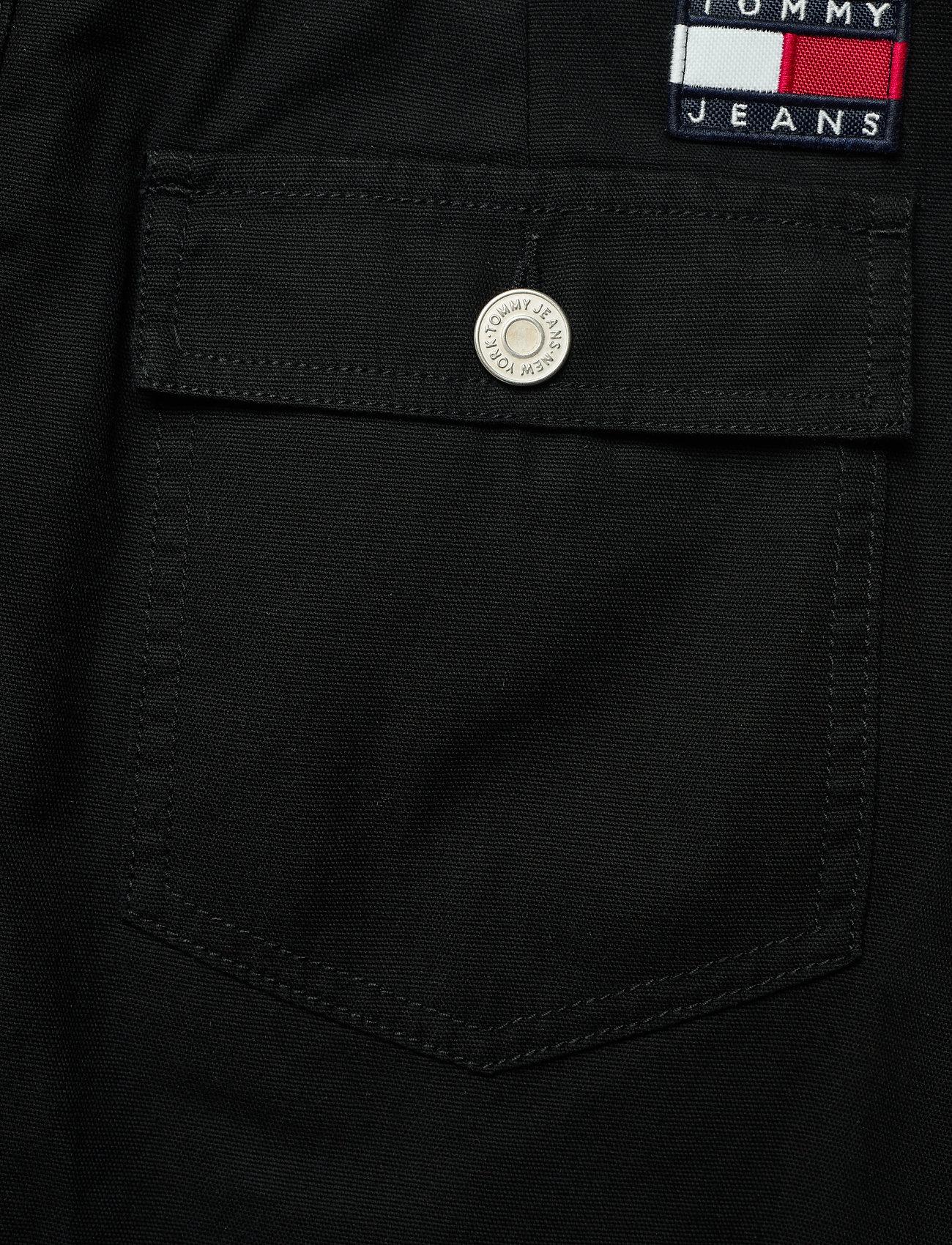 Tommy Jeans - TJW BADGE BUTTON THROUGH SKIRT - midi skirts - black - 4
