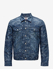 Tommy Jeans - THDM TOMMY JACQUARD DENIM TRUCKER - farkkutakit - tommy jacquard denim - 0