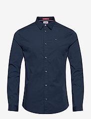 Tommy Jeans - TJM ORIGINAL STRETCH SHIRT - business skjortor - black iris - 0