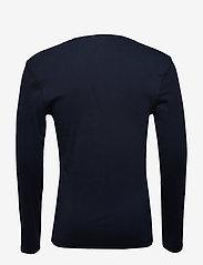 Tommy Jeans - TJM ORIGINAL RIB LONGSLEEVE TEE - basic t-shirts - black iris - 1