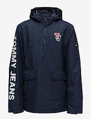 Tommy Jeans - TJM LOGO PULLOVER JA - light jackets - black iris - 0