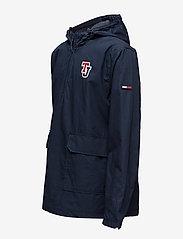 Tommy Jeans - TJM LOGO PULLOVER JA - light jackets - black iris - 2