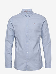 Tommy Jeans - TJM STRETCH OXFORD S - basic shirts - shoreside blue - 0