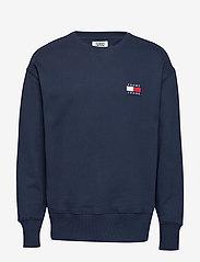 Tommy Jeans - TJM TOMMY BADGE CREW - basic sweatshirts - black iris - 0