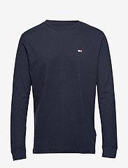 Tommy Jeans - TJM CLASSICS LONGSLEEVE TEE - long-sleeved t-shirts - black iris - 0