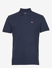 Tommy Jeans - TJM CLASSICS SOLID STRETCH POLO - lyhythihaiset - twilight navy - 0