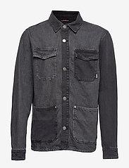 Tommy Jeans - TJM CARGO JACKET CRMXK - overshirts - care mix black - 0