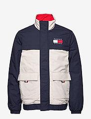 Tommy Jeans - TJM COLORBLOCK JACKET - padded jackets - black iris/multi - 1