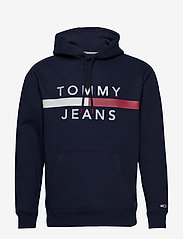 Tommy Jeans - TJM REFLECTIVE FLAG - hoodies - black iris - 0