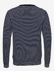 Tommy Jeans - TJM ESSENTIAL STRIPE - pulls col rond - black iris/classic white - 1