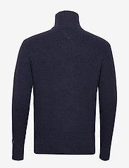 Tommy Jeans - TJM TEXTURED MOCK SWEATER - half zip - black iris - 1