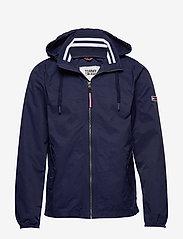 Tommy Jeans - TJM ESSENTIAL HOODED JACKET - light jackets - black iris - 0