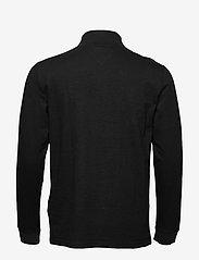 Tommy Jeans - TJM BRUSHED ZIP NECK TEE - rullekraver - tommy black - 1