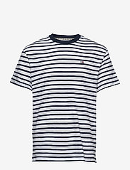 Tommy Jeans - TJM TOMMY STRIPE TEE - short-sleeved t-shirts - twilight navy / white - 0