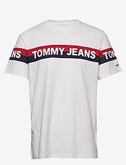 Tommy Jeans - TJM DOUBLE STRIPE LO - short-sleeved t-shirts - white - 0