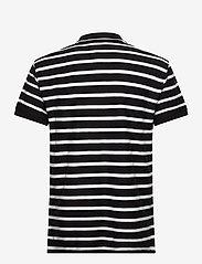 Tommy Jeans - TJM HERRINGBONE STRIPE POLO - lyhythihaiset - black / white - 1