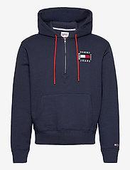 Tommy Jeans - TJM HALF ZIP HOODIE - hoodies - twilight navy - 0