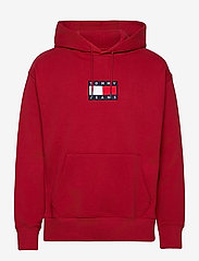 Tommy Jeans - TJM SMALL FLAG HOODIE - hoodies - wine red - 0