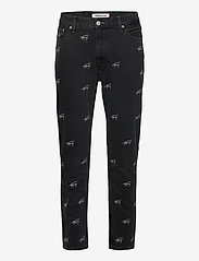 Tommy Jeans - DAD JEAN STRGHT SVCBKR - regular jeans - tj save fa critter black rigid - 0