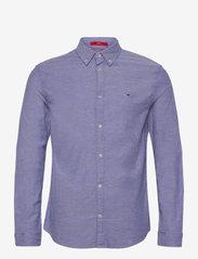 Tommy Jeans - TJM STRETCH OXFORD SHIRT - linneskjortor - court blue - 0