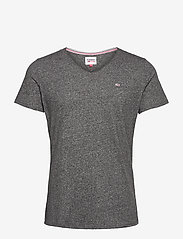 Tommy Jeans - TJM SLIM JASPE V NECK - basic t-shirts - black - 0