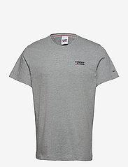 Tommy Jeans - TJM REGULAR CORP LOGO C NECK - basic t-shirts - lt grey htr - 0